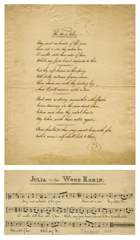 Image of manuscript and music sheet