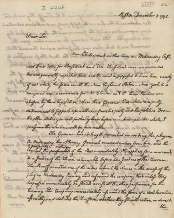 John Quincy Adams letter to John Adams