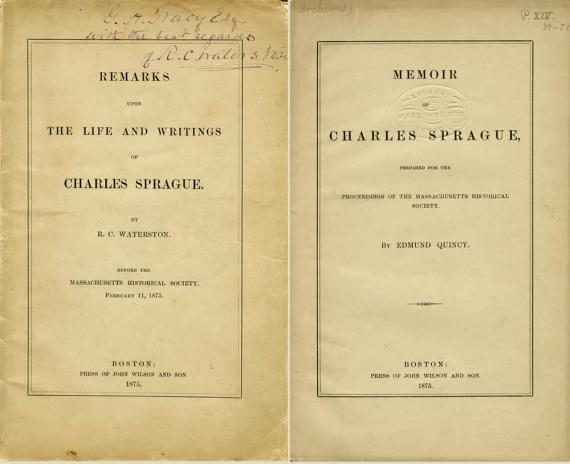Image of title pages for two memoirs